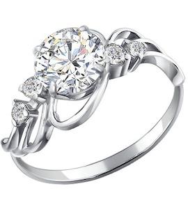 Серебряное кольцо с фианитами 94010477