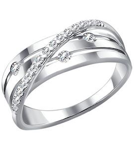 Серебряное кольцо с фианитами 94010513