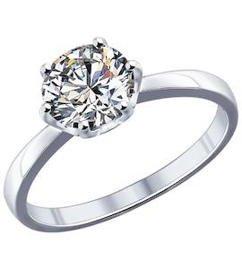 Серебряное кольцо с фианитом 94011741