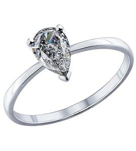 Серебряное кольцо с фианитом 94011743