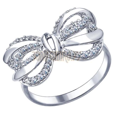 Серебряное кольцо с фианитами 94012331