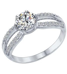 Серебряное кольцо с фианитами 94012345
