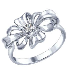 Серебряное кольцо с фианитом 94012349