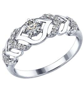 Серебряное кольцо с фианитами 94012351