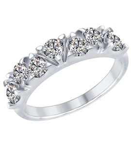 Серебряное кольцо с фианитами 94012356