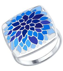 Серебряное кольцо с эмалью 94012556