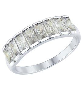 Серебряное кольцо с фианитами 94012563