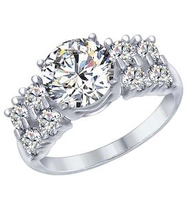 Серебряное кольцо с фианитами 94012566