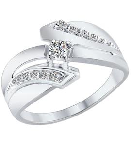 Серебряное кольцо с фианитами 94012570