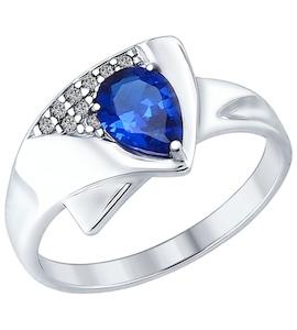 Серебряное кольцо с фианитами и фианитом 94012591