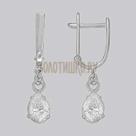 Серебряные серьги с фианитами 94020518