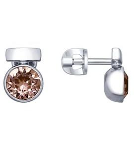 Серебряные серьги 94022601