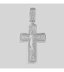 Православный серебряный крестик 94120019