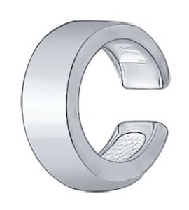 Серебряная серьга 94170030