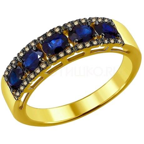 Кольцо из желтого золота 2011066-2