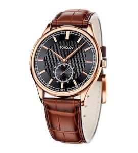 Мужские золотые часы 237.01.00.000.05.03.3