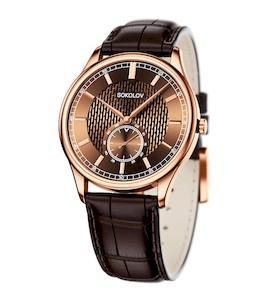 Мужские золотые часы 237.01.00.000.06.02.3