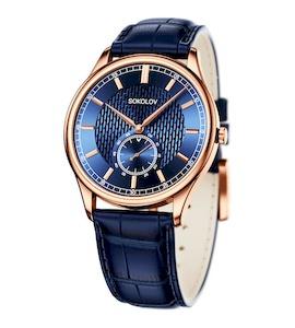 Мужские золотые часы 237.01.00.000.07.04.3