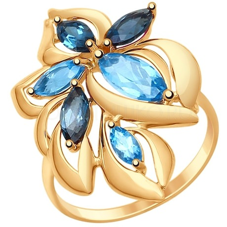 Кольцо из красного золота 37714763