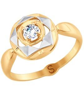 Кольцо из золота с фианитом 017703