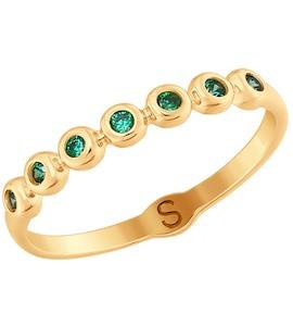 Кольцо из золота с фианитами 017709