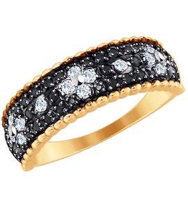 Кольцо из золота с фианитами 017731