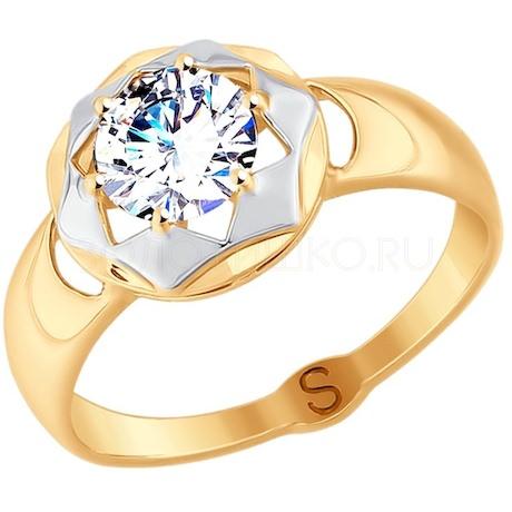 Кольцо из золота с фианитом 017747