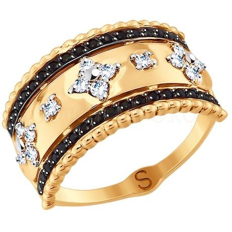 Кольцо из золота с фианитами 017758
