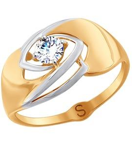 Кольцо из золота с фианитом 017778