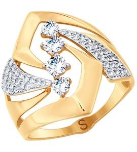 Кольцо из золота с фианитами 017781