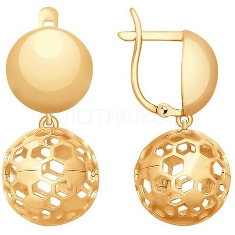 Серьги из золота 027739