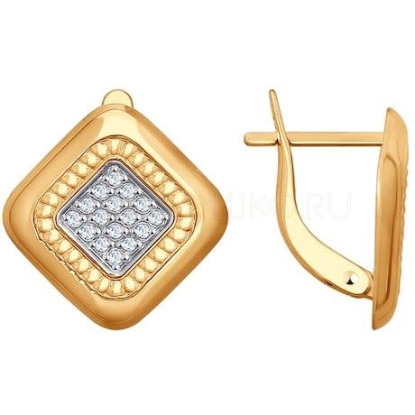 Серьги из золота с фианитами 027887