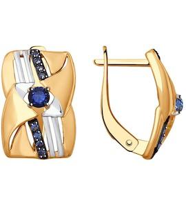 Серьги из золота с фианитами 027892