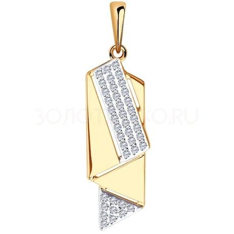 Подвеска из золота с фианитами 035477