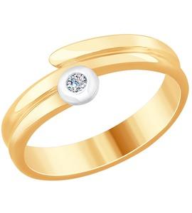 Кольцо из золота с бриллиантом 1011720
