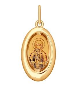 Подвеска из золота с эмалью и лазерной обработкой 104145
