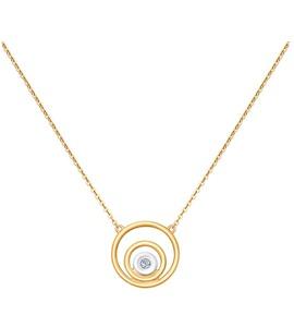Колье из золота с бриллиантом 1070057