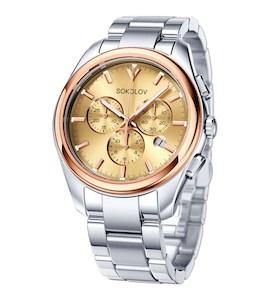 Мужские часы из золота и стали 139.01.71.000.02.01.3