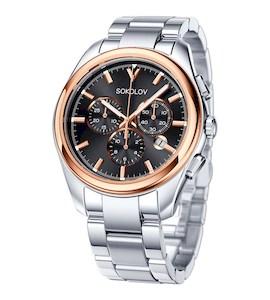 Мужские часы из золота и стали 139.01.71.000.03.01.3