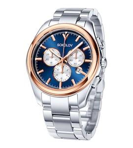 Мужские часы из золота и стали 139.01.71.000.04.01.3