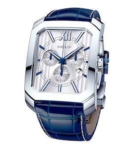 Мужские серебряные часы 144.30.00.000.01.03.3