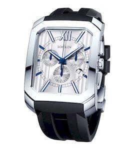 Мужские серебряные часы 144.30.00.000.01.05.3