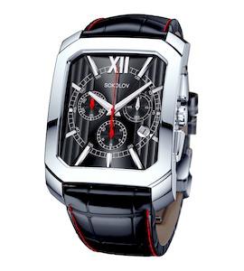 Мужские серебряные часы 144.30.00.000.02.06.3