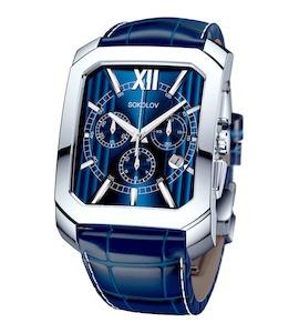 Мужские серебряные часы 144.30.00.000.03.03.3