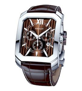 Мужские серебряные часы 144.30.00.000.04.02.3