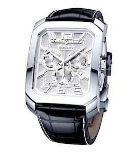Мужские серебряные часы 144.30.00.000.05.01.3