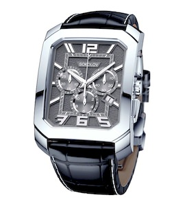 Мужские серебряные часы 144.30.00.000.06.01.3