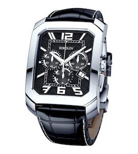 Мужские серебряные часы 144.30.00.000.07.01.3
