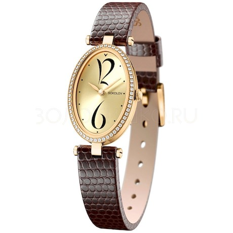 Женские золотые часы 236.02.00.001.06.07.2