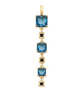Подвеска из золота с синими топазами и фианитами 37731681